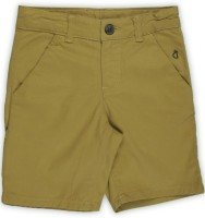 Gini & Jony Short For Boy's Casual Solid Cotton(Yellow, Pack of 1)