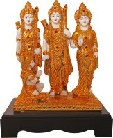 Art N Hub Ram Darbar / Lord Rama ,Sita, Laxman and Hanuman Idol - Handicraft Decorative Home & Temple Décor God Figurine / Statue Gift item Decorative Showpiece  -  31 cm(Gold Plated, Gold)