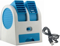 KBOOM New Arrival Mini Air Conditioner with Aromatic Beads Portable & Rechargeable Usb Mini Cooler/mini Fan/usb Fan/water cooler/Ice Cooler/table fan/room cooler For Kitchen/home/indoor/outdoor/office Ceiling fAN/wall fAN/ Personal Cooler WC-2N USB Table Fan(Multicolor)