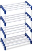 Ebee 4 Rack Metal Shoe Stand(Blue, 4 Shelves)