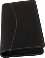 ZesTale Cheque Book Holder With Debit Credit Card Holder(Black)