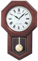 Seiko Analog 54 cm X 9.5 cm Wall Clock(Brown, With Glass)