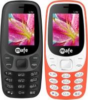 Mafe Lite Combo of Two Mobiles(Black, Orange&White)