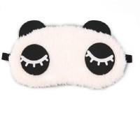 AweStuffs Long Eyelashes Panda Sleeping Nap Eye Shade Cartoon Blindfold Sleep Eyes Cover Travel Rest Patch Sleep Plush Mask Eye Shade(White)