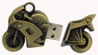 TOBO Bike Shape USB Flash Drive 16GB USB Pen Drive USB Stick 16GB PenDrive USB Drive Thumb Stick 16 GB Pen Drive(Gold)