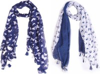 Ziva Fashion Printed Cotton Blend Women Stole, Scarf