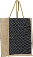 ART ME Designer jute Waterproof Multipurpose Bag(Black, 15 L)