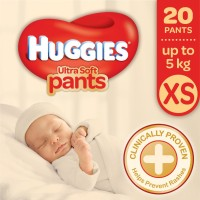 Huggies Ultra Soft XS Size Diaper Pants - XS(20 Pieces)