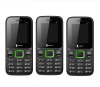 Ssky K7 Combo of Three Mobiles(Black&Green)