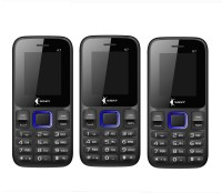 Ssky K7 Combo of Three Mobiles(Black&Blue)