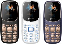 Ssky K7 Pro Combo of Three Mobiles(Black, White, Blue)