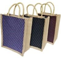 ART ME Pack of 3, 10x12 inch Waterproof Multipurpose Bag(Purple, Maroon, Black, 7 L)