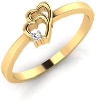 IskiUski Double Heart Ring 18kt Diamond Yellow Gold ring