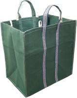 SAISAN Large Capacity Hand Bag/Grocery Bag/Vegetable Bag (Green) with Reinforced Handles & Thick Bottom for Strength Multipurpose Bag(Green, 5 L)