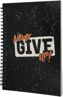 Flipkart SmartBuy A5 Notebook(Never Give Up Motivational Quote Softbound Diary, Orange,Black,White)