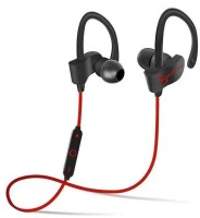ELECTRON QC-10 Bluetooth Earphone Wireless Headphones for iPhone 7/8/X & All Android Phones and iOS Mobile Smartphones Sports Stereo Jogger,Running,Gyming Bluetooth Headset (Red) Bluetooth Headset with Mic(Red color, In the Ear)