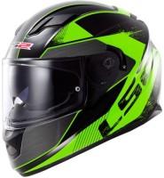LS2 Stringer Black Green FFS Motorbike Helmet(Black Green)