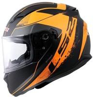 LS2 Stringer Black Orange FFS Motorbike Helmet(Black Orange)