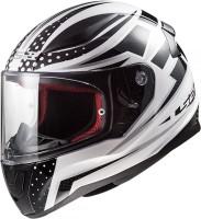 LS2 Carborace white Black Motorbike Helmet(White Black)