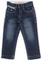 US Polo Kids Slim Boys Blue Jeans