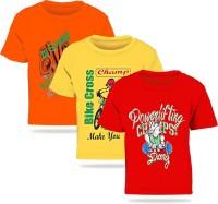 2fddd5edc2272 FabTag- Kiddeo Boys Printed Cotton Blend T Shirt(Multicolor