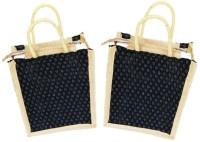 ART ME Set of 2, Jute Waterproof Multipurpose Bag(Black, 5 L)