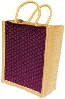 ART ME Designer jute Waterproof Multipurpose Bag(Maroon, 15 L)