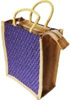 ART ME Designer Jute 14x12 inch Waterproof Multipurpose Bag(Purple, 11 L)