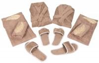 KUBER INDUSTRIES Brown Free Size Bath Robe(bath robe set, For: Men & Women, Brown)