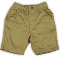 Gini & Jony Short For Boy's Casual Self Design Cotton(Brown, Pack of 1)
