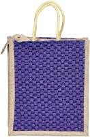 ART ME Designer jute 16x14 inch Waterproof Multipurpose Bag(Purple, 15 L)