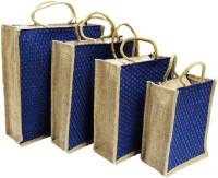 ART ME Pack of 4, 16x14,14x12, 12x10, 10x8 inch Waterproof Multipurpose Bag(Blue, 15 L)