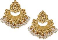 Spargz Fine Enamel Gold Plated Ad Chandbali Diamond Alloy Chandbali Earring