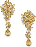 Spargz Modern Gold Plated Synthetic Stone Drop Diamond Alloy Drop Earring