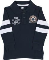 612 League Boys Solid Cotton T Shirt(Blue, Pack of 1)