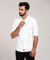 Spykar Men's Printed Casual Spread Shirt