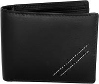 Ox Men Casual Black Genuine Leather Wallet(8 Card Slots)