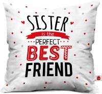 Indigifts Printed Cushions Cover(40 cm*40 cm, White)
