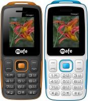 Mafe Omega Plus Combo of Two Mobiles(Black&Orange, White&Blue)