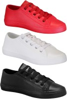 Chevit Happy Pack of 3 Casual Shoes Sneakers For Men(Multicolor)