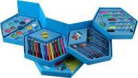 13-HI-13 46Pcs COLORING KIT BOX (Color Pencil, Water Color, Crayons, Sketch Pens (Set Of 46Pieces)