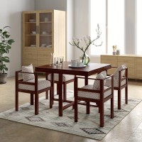 Flipkart Perfect Homes PureWood Sheesham 4 Seater Dining Set(Finish Color - Teak)