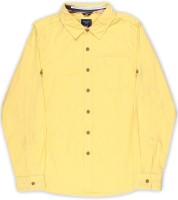 Allen Solly Junior Boy's Solid Casual Spread Shirt