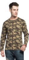 Alan Jones Military Camouflage Men Round or Crew Green T-Shirt