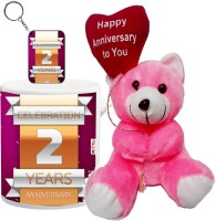 ME&YOU Gift For Anniversary, Anniversary Gifts for Father, Mother, Husband, Wife, Brother, Sister, Friends Printed IZ18SRTMK-2463 Mug, Keychain, Soft Toy Gift Set