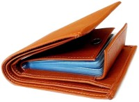 Just Leather Men Tan Artificial Leather Wallet(6 Card Slots)