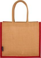 Promise Bags Perfect Eco Friendly Naturally processed Multipurpose Reusable Jute Bags(Dark Pink Boarder) Multipurpose Bag(Pink, 10 L)