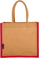 Promise Bags Perfect Eco Friendly Naturally processed Multipurpose Reusable Jute Bags(Red Boarder ) Multipurpose Bag(Red, 10 L)