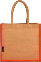 Promise Bags Perfect Eco Friendly Naturally processed Multipurpose Reusable Jute Bags(Orange Boarder) Multipurpose Bag(Orange, 10 L)