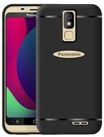 Mycos Back Cover for Panasonic P100(Black, Shock Proof, Rubber)